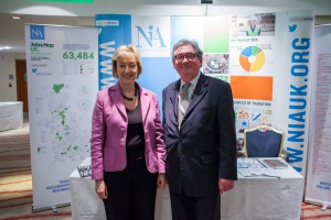 Keith Parker with Energy Minister Andrea Leadsom MP at the #Nuclear - Powering the UK NIA Conference last December.