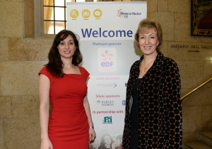 Miranda with Energy Minister Andrea Leadsom. Increasing the number of Women in the industry is also a Government priority.