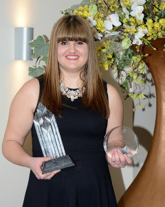 Grace Draper, from Rolls Royce, UK Nuclear Apprentice and Design Apprentice of the Year 2016.