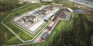 Artist's impression of how the 3 AP1000 reactors might look at the Moorside Power Station