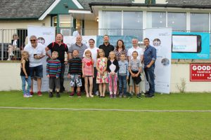 CNSL celebrates its first annual cricket match (2015) with Friends of Chernobyl's children, CNSL directors, and Sue Hayman MP