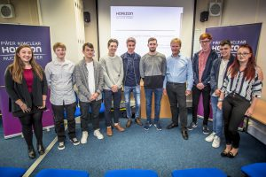 New apprentices with Horizon's Safety and Generation Director, Greg Evans.