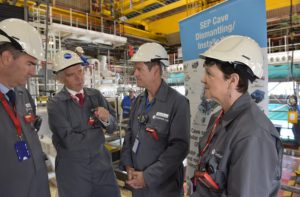 Energy Minister Baroness Neville Rolfe and Chief Secretary to the Treasury David Gauke MP at Sellafield