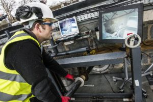 Cutting trials at James Fisher Nuclear's Egremont facility